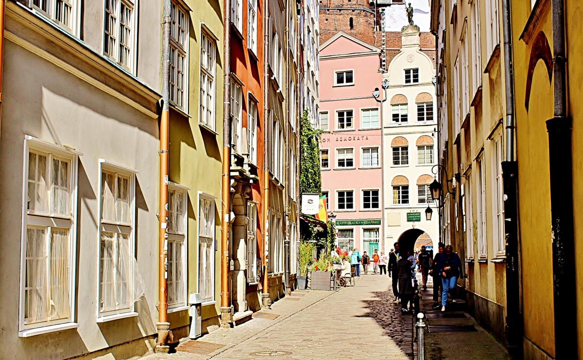 Zdjęcia: Gdańsk, województwo pomorskie, Uliczka w Gdańsku, POLSKA