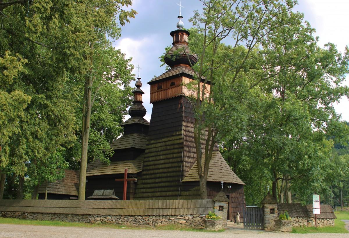 Zdjęcia: Powroźnik, Beskid Sądecki, Cerkiew św. Jakuba Apostoła, POLSKA