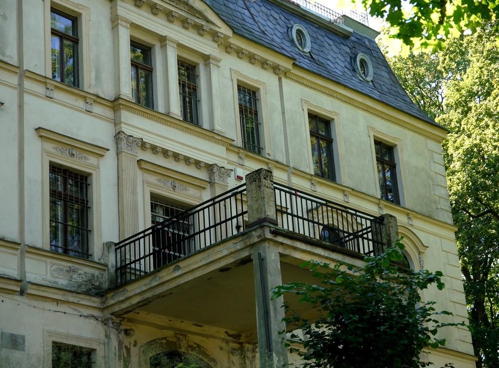 Zdjęcia: Stary Lesieniec, dolnoślaskie, Fronton pałacu rodu von Czetritz . , POLSKA