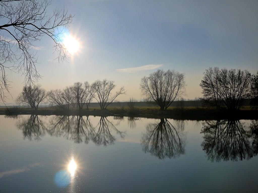 Zdjęcia: Nad Odrą, opolskie, W mroźne popołudnie nad Odrą, POLSKA