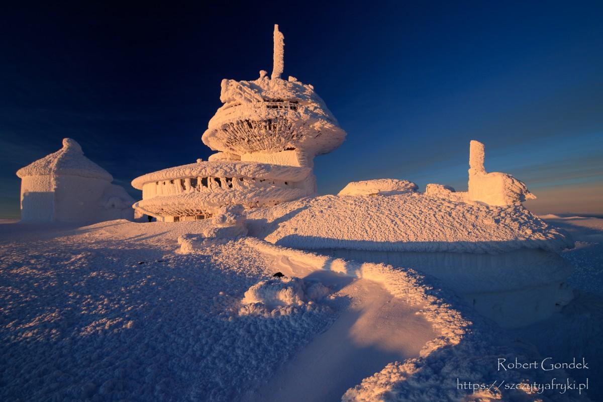 Zdjęcia: Karkonosze, Karkonosze, Zima na Śnieżce, POLSKA