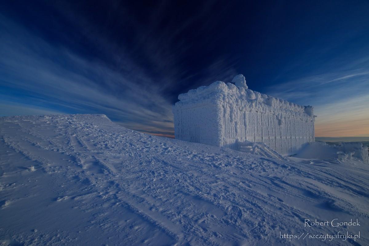 Zdjęcia: Karkonosze, Karkonosze, Na Śnieżce zimą, POLSKA