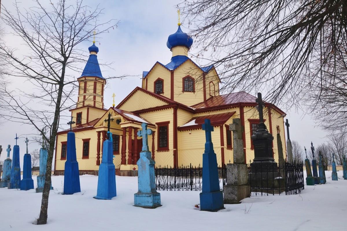 Zdjęcia: Łosinka, podlaskie, Zimowe Podlasie. Cerkiew w Łosince, POLSKA