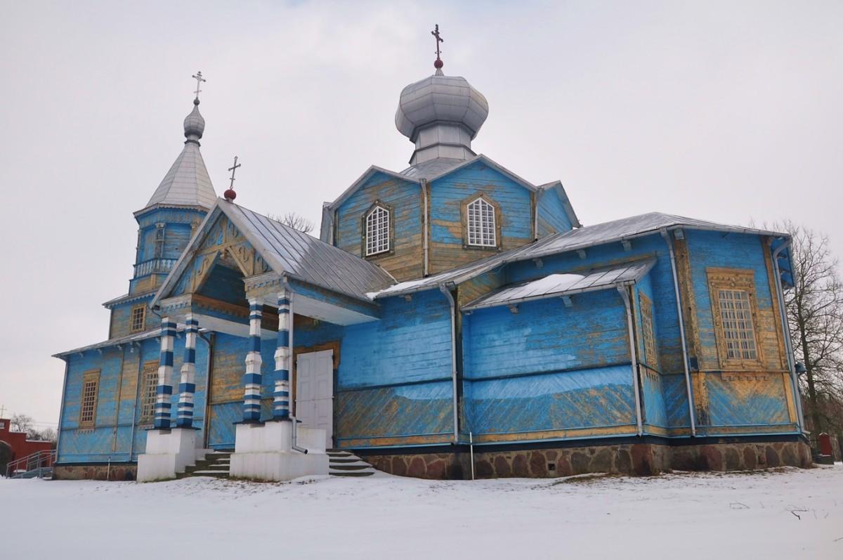 Zdjęcia: Pasynki, podlaskie, Zimowe Podlasie. Cerkiew w Pasynkach, POLSKA