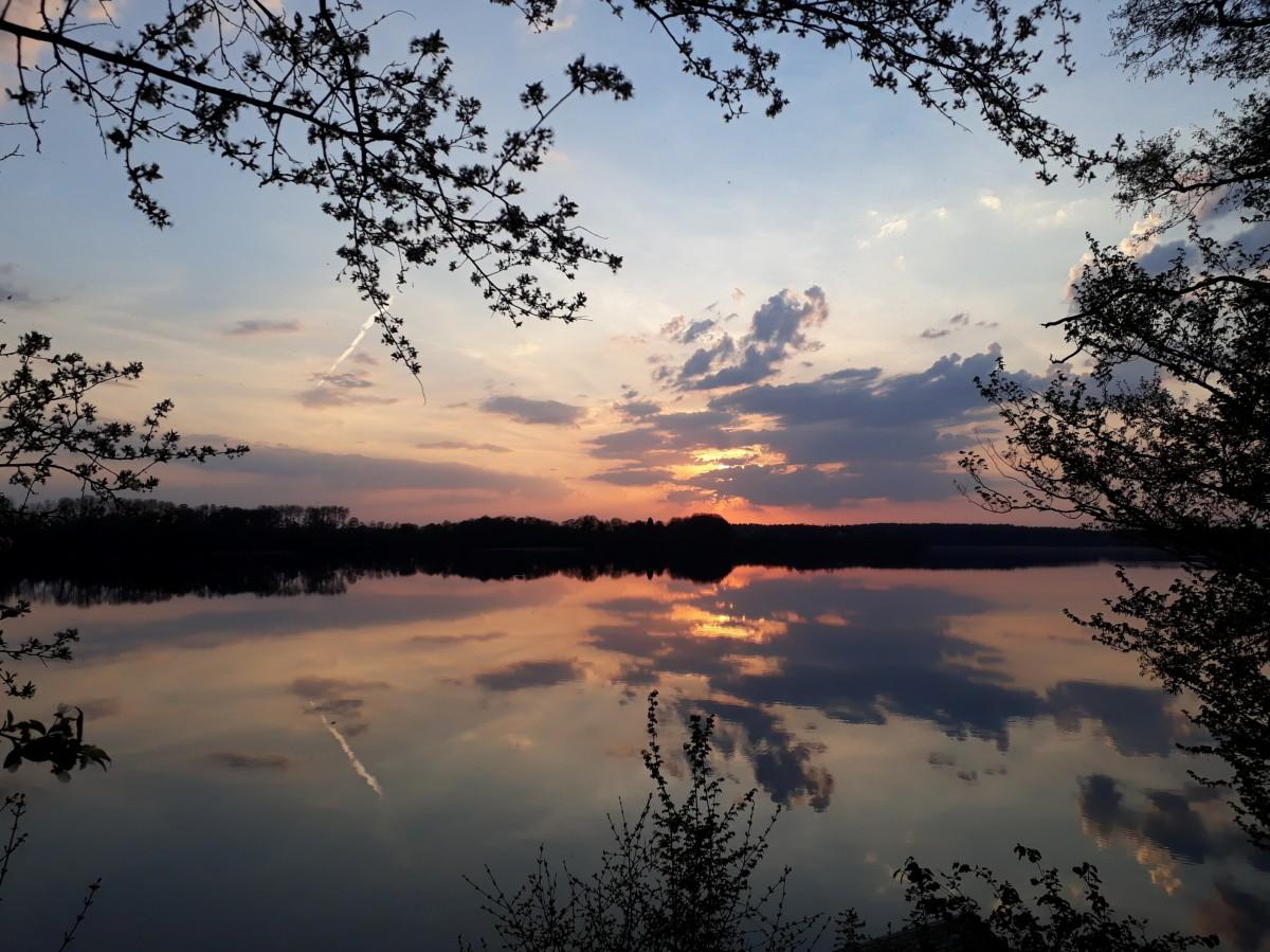 Zdjęcia: Kretowiny, Pojezierze Iławskie, Narie wieczorową porą, POLSKA