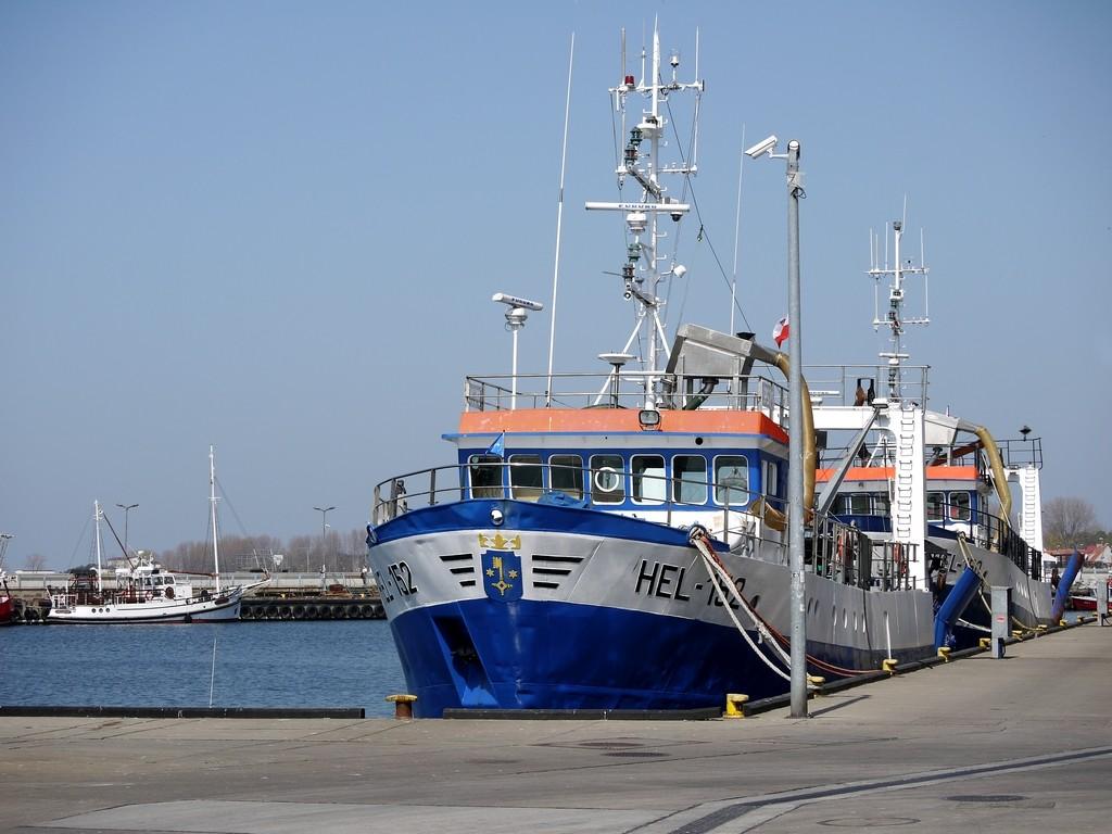Zdjęcia: Hel, pomorskie, Kuter na Helu, POLSKA
