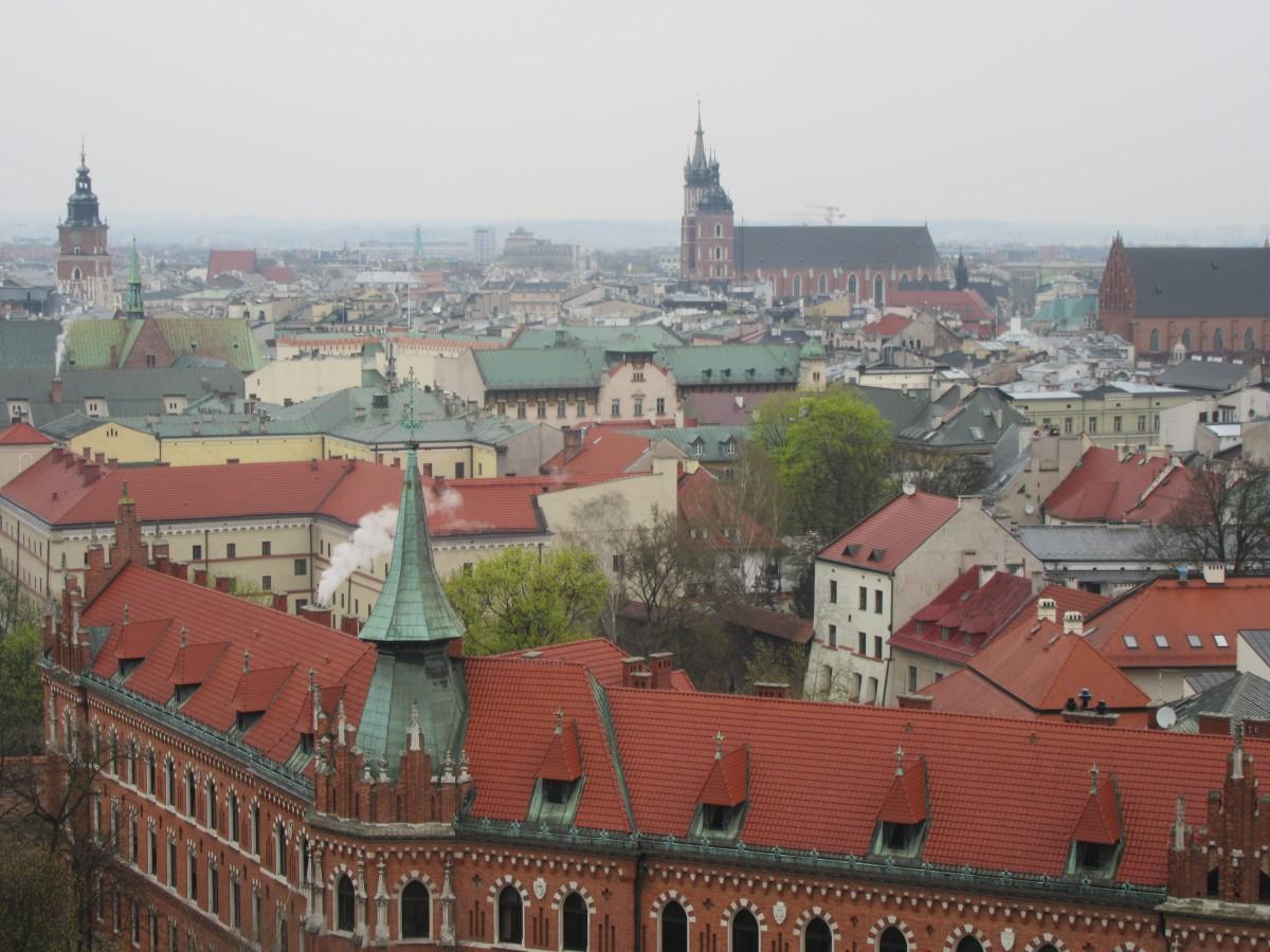 Zdjęcia: Kraków, Kraków, Kraków - widok z Wawelu, POLSKA
