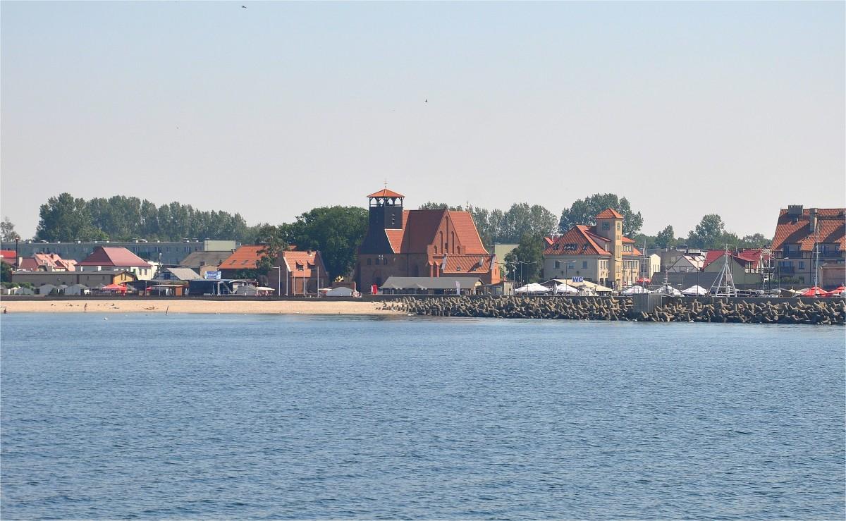 Zdjęcia: Hel, pomorskie, Widok na Hel od strony Zatoki Puckiej, POLSKA