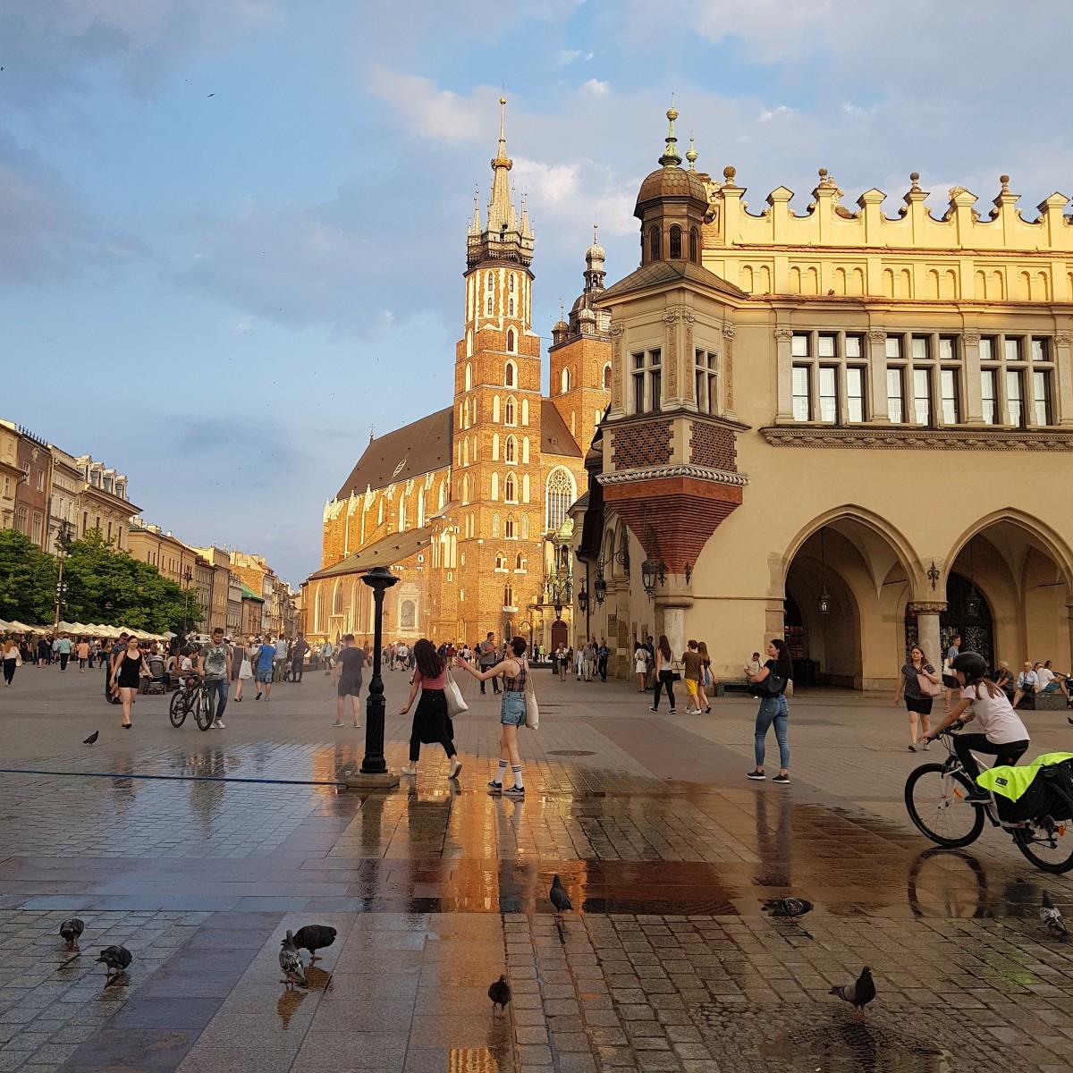 Zdjęcia: Kraków, Małopolska, Mżawka dla ochłody, POLSKA