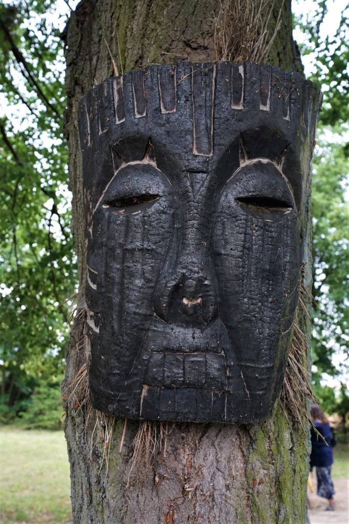 Zdjęcia: Rodowo - Wioska Cudów, Prabuty, Twarz drzewa, POLSKA
