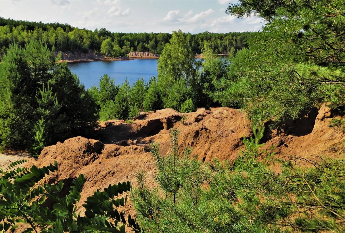 """Zdjęcia: Jezioro Afryka - na ścieżce: """"Dawna kopalnia Babina"""", Lubuskie, niby niebieskie..., POLSKA"""