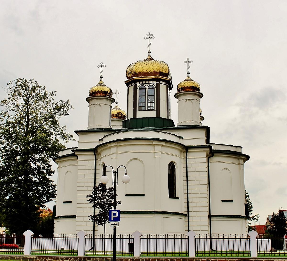 Zdjęcia: Sokółka, województwo podlaskie, Tył cerkwi Aleksandra Newskiego, POLSKA