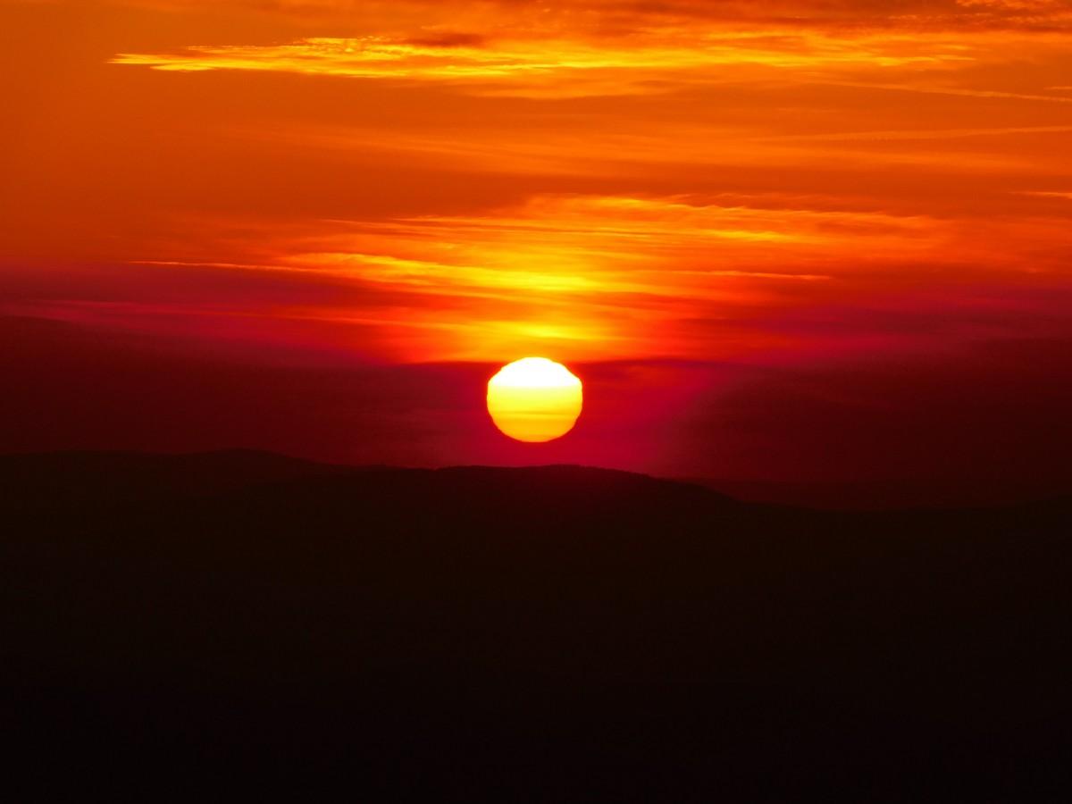 Zdjęcia: Babia Góra, babiogórski park narodowy, Zachód Na Babiej Górze, POLSKA