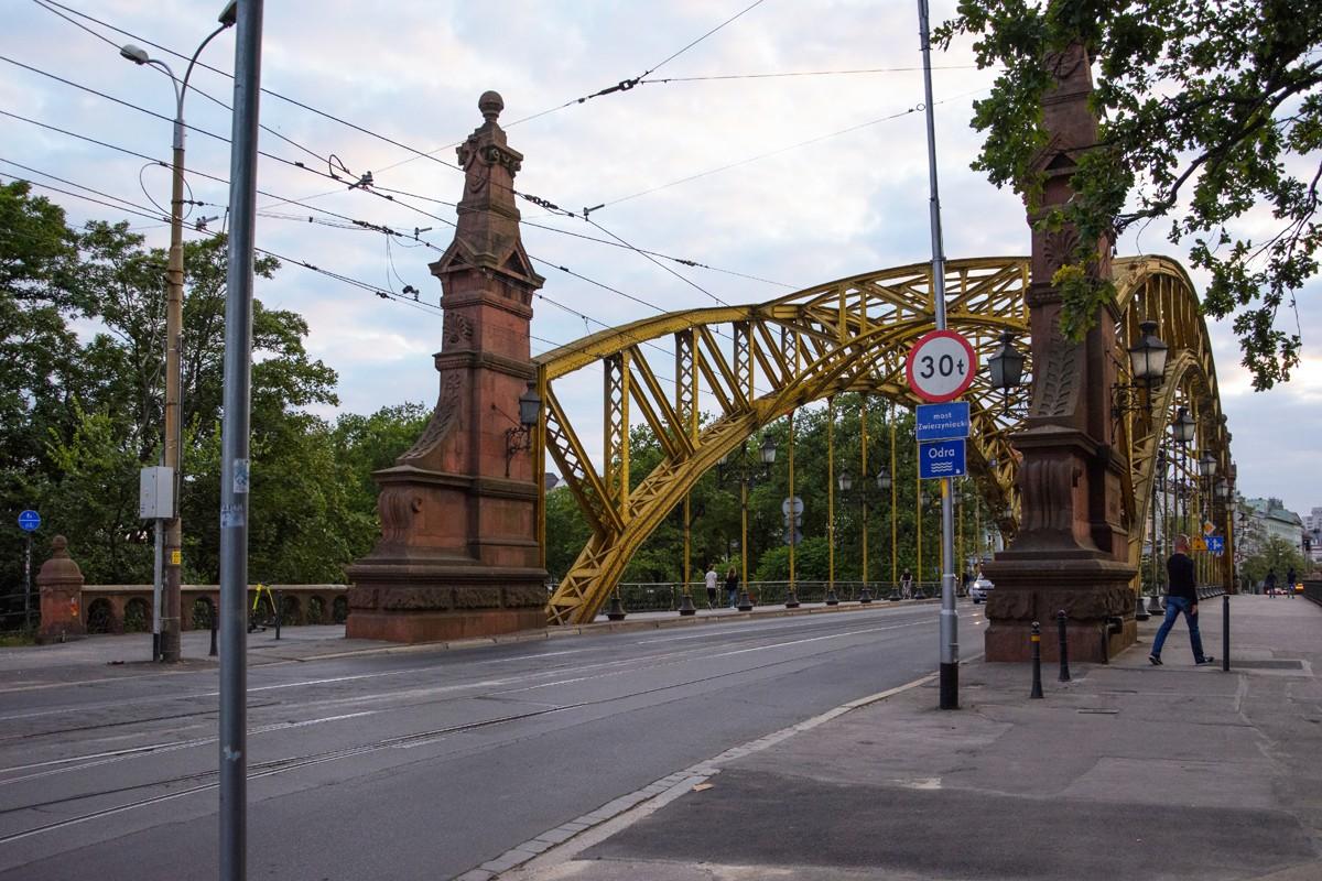 Zdjęcia: Wrocław, woj. dolnośląskie, pocztówki z Wrocławia - Most Zwierzyniecki, POLSKA