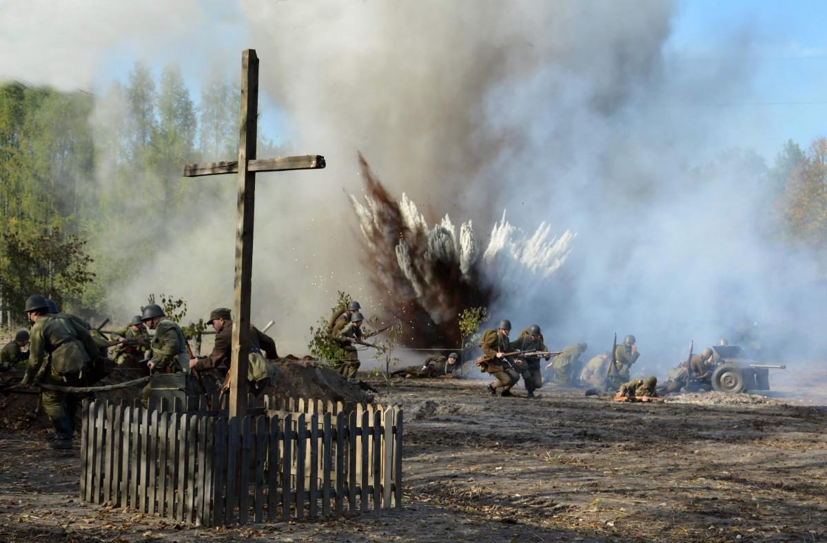 Zdjęcia: Tokarnia Muzeum Wsi Kieleckiej, świętokrzyskie, Rekonstrukcja bitwy pod Broniną, POLSKA