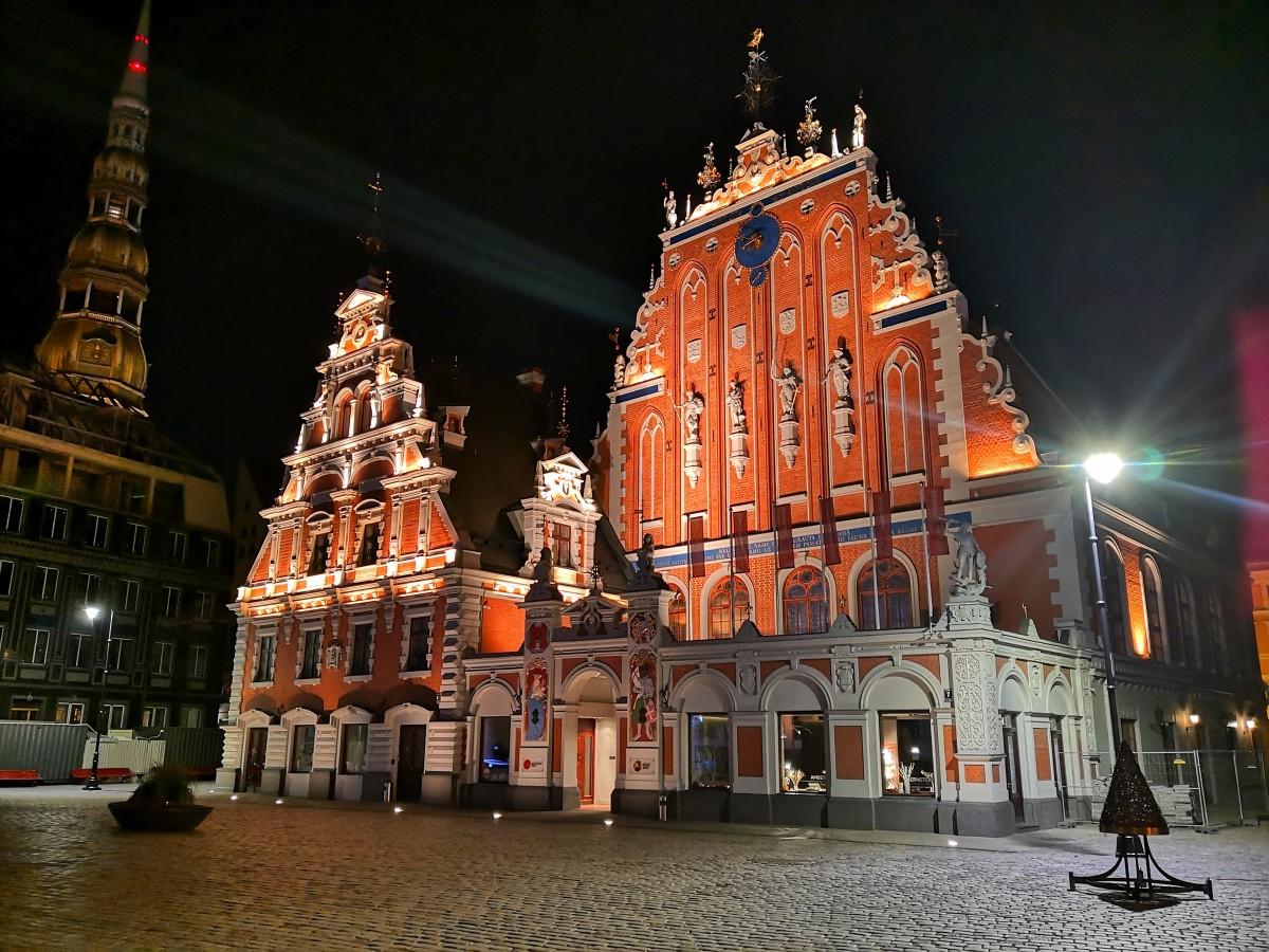 Zdjęcia: Stare Miasto, Ryga, Noc w Rydze, ŁOTWA