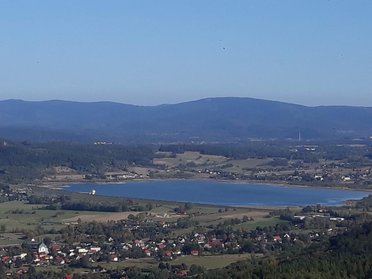 Zdjęcia: Sosnówka, Dolny Śląsk, Zbiornik w Sosnówce, widok z Zamku Chojnik, POLSKA