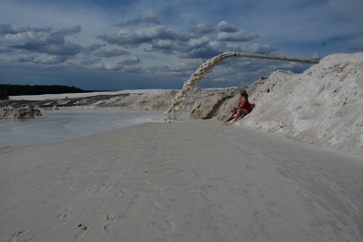 Zdjęcia: Kopalnia Kaolinu, dolnośląskie, Odpoczynek pod chmurką, POLSKA