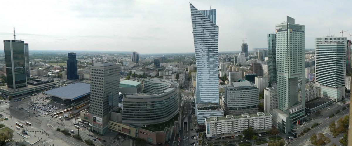 Zdjęcia: PKiN., Warszawa., Panorama z PKiN., POLSKA