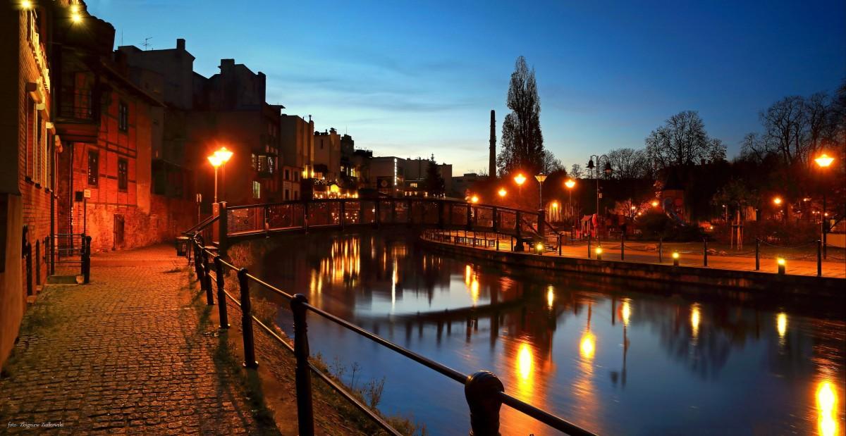 Zdjęcia: Bydgoszcz, kujawsko-pomorskiego, Wenecja Bydgoska nocą, POLSKA