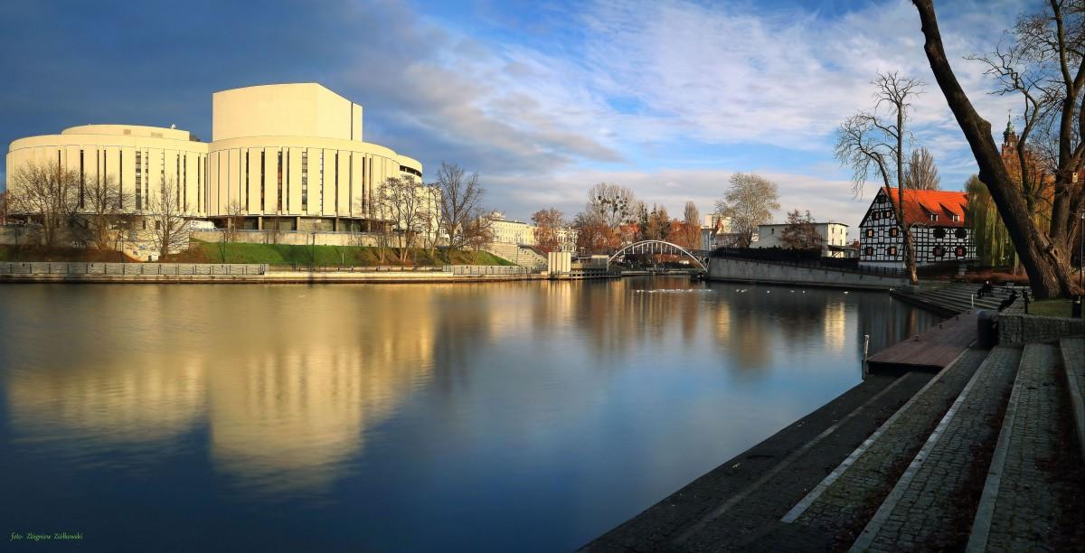 Zdjęcia: Bydgoszcz, kujawsko-pomorskiego, Panorama z Wyspy Młyńskiej, POLSKA