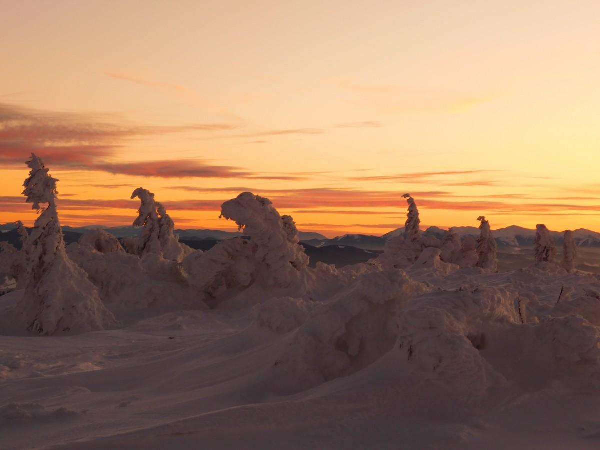 Zdjęcia: masyw pilska, beskid żywiecki, zachód pod szczytem, POLSKA