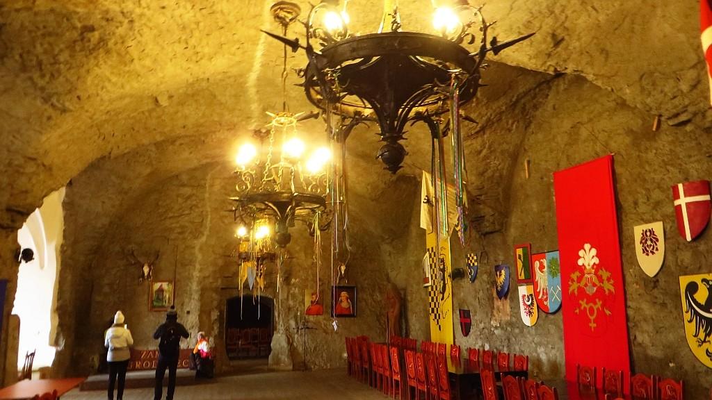 Zdjęcia: Grodziec gm. Zagrodno, Dolny Śląsk, zamek Grodziec Sala Rycerska, POLSKA