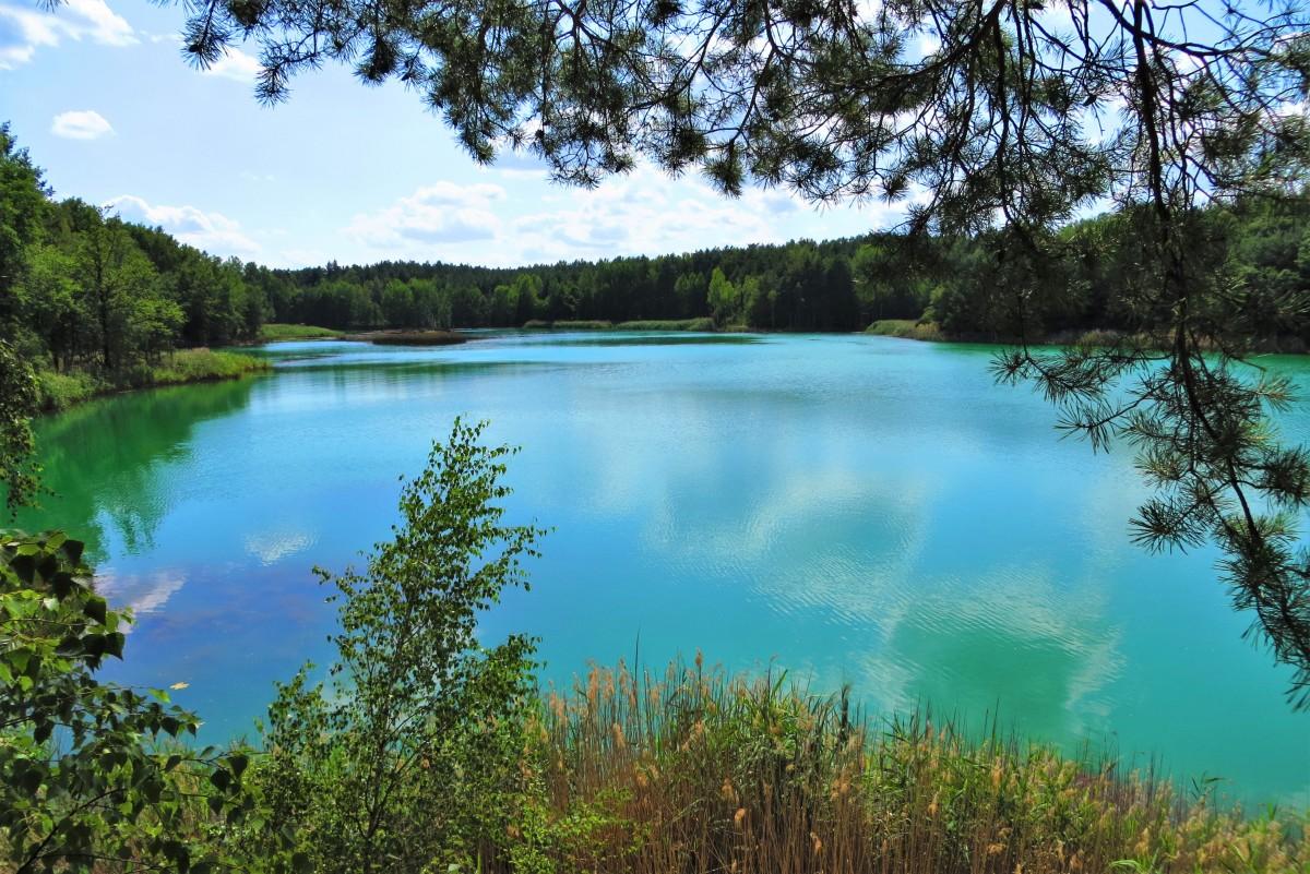 Zdjęcia: Geopark Łuk Mużakowa, tereny dawnej kopalni odkrywkowej Babina, Lubuskie, magicznie i kolorowo..., POLSKA