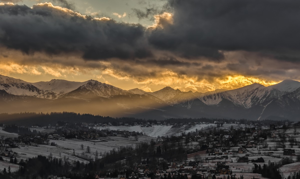 Zdjęcia: Czarna Góra, Podhale, Nad Tatrami gore :) , POLSKA