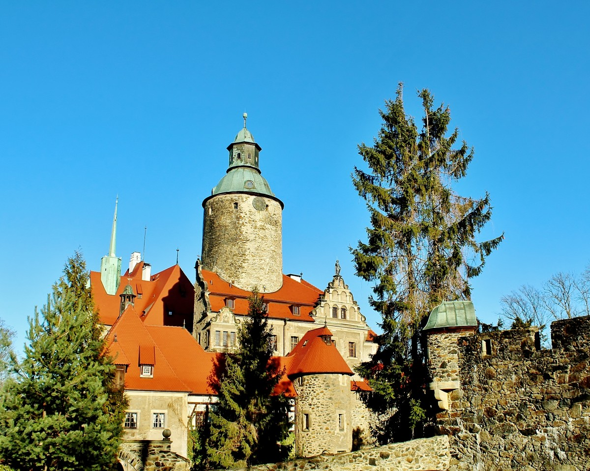 Zdjęcia: Sucha, województwo dolnośląskie, Zamek Czocha z XIII wieku, POLSKA