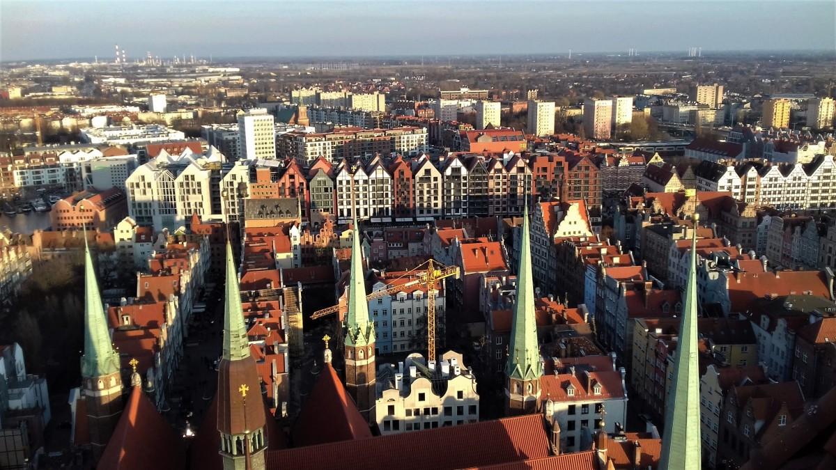 Zdjęcia: Gdańsk, woj. pomorskie, panorama z wieżami, POLSKA