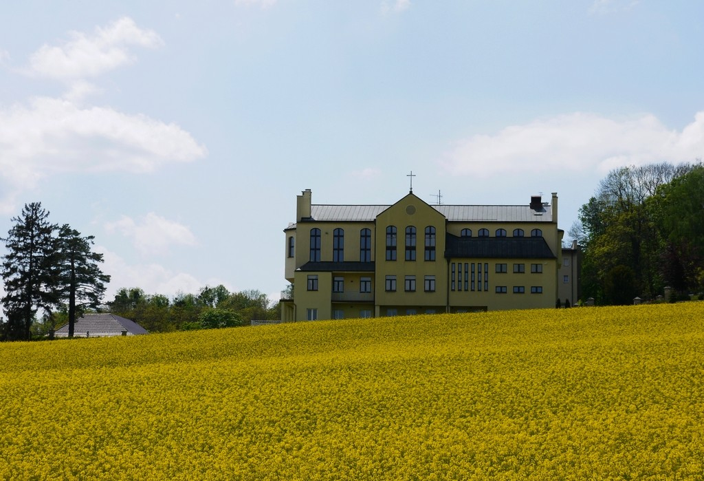 Zdjęcia: Góra św. Anny, opolskie, Widok na hotel, POLSKA