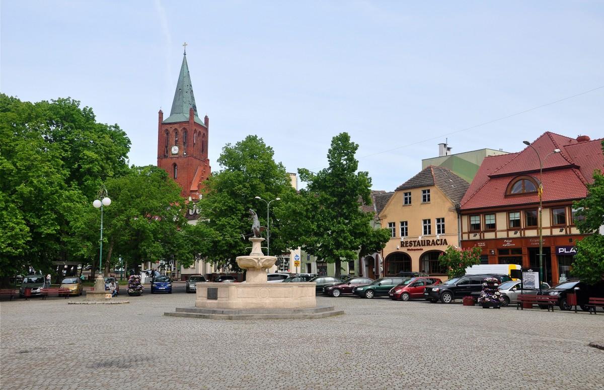 Zdjęcia: Barlinek, zachodniopomorskie, Rynek w Barlinku, POLSKA