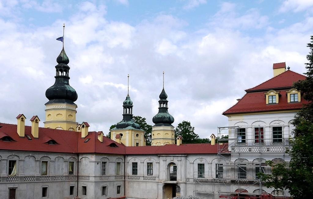 Zdjęcia: Żyrowa, opolskie, Pałac w odbudowie, POLSKA