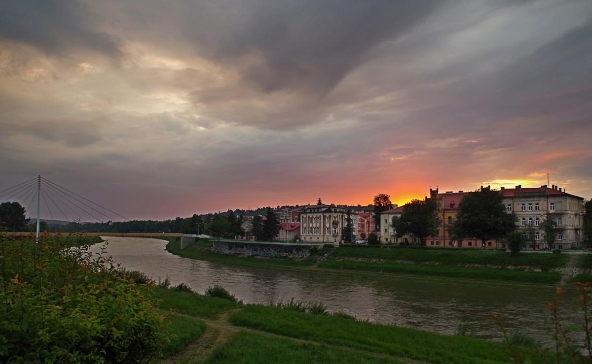 Zdjęcia: Przemyśl , Podkarpacie, zachód słońca nad Sanem , POLSKA