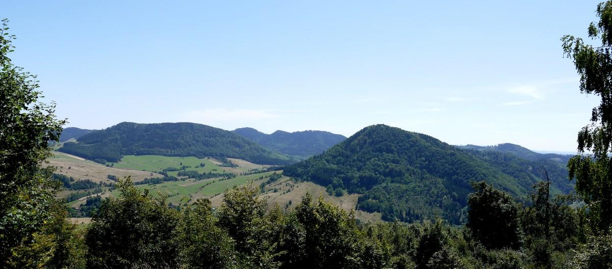 Zdjęcia: Boguszów-Gorce, dolnośląskie, Widok na Stożek Wielki, Lesistą Wielką, Stachoń, Ostrosz, POLSKA