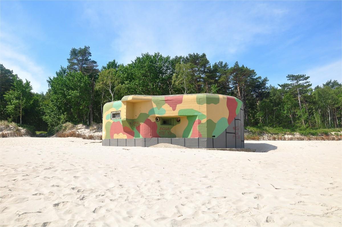 Zdjęcia: Jastarnia, pomorskie, Schron na plaży, POLSKA