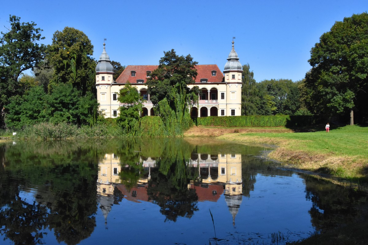 Zdjęcia: Krobielowice, województwo dolnośląskie, Pałac w Krobielowicach, POLSKA