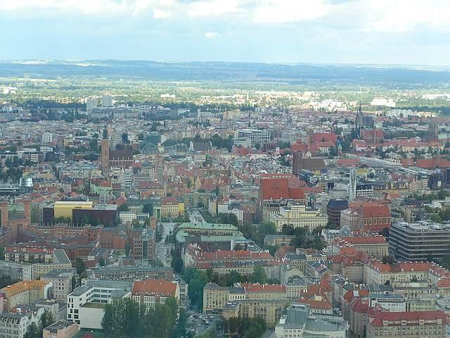 Zdjęcia: Wrocław, Dolnośląskie, Wrocław ze  Sky Tower, POLSKA