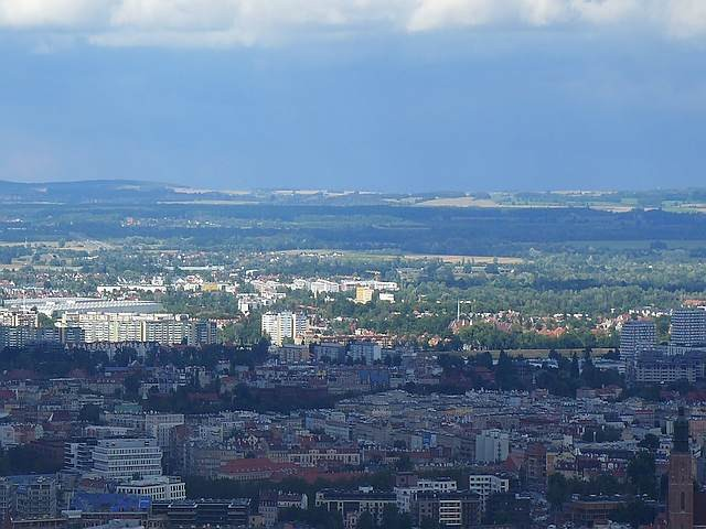Zdjęcia: Wrocław, Dolnośląskie, Panorama Wrocławia ze SKY TOWER, POLSKA