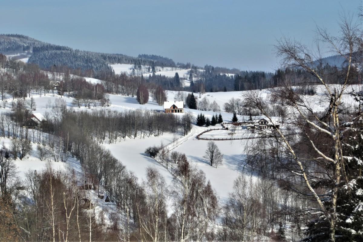 Zdjęcia: Rudawski Park Krajobrazowy, Dolny Śląsk, otulona śnieżnym puchem..., POLSKA