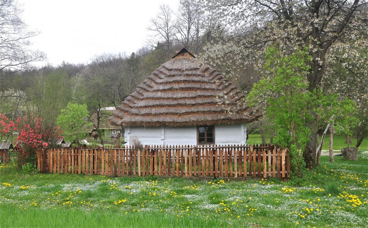 Zdjęcia: Sanok, podkarpackie, Chata w Muzeum Budownictwa Ludowego w Sanoku, POLSKA