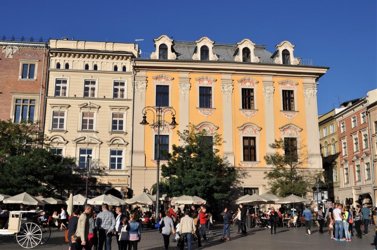 Zdjęcia: Kraków, Małopolska, Kraków, kamieniczki, rynek, POLSKA