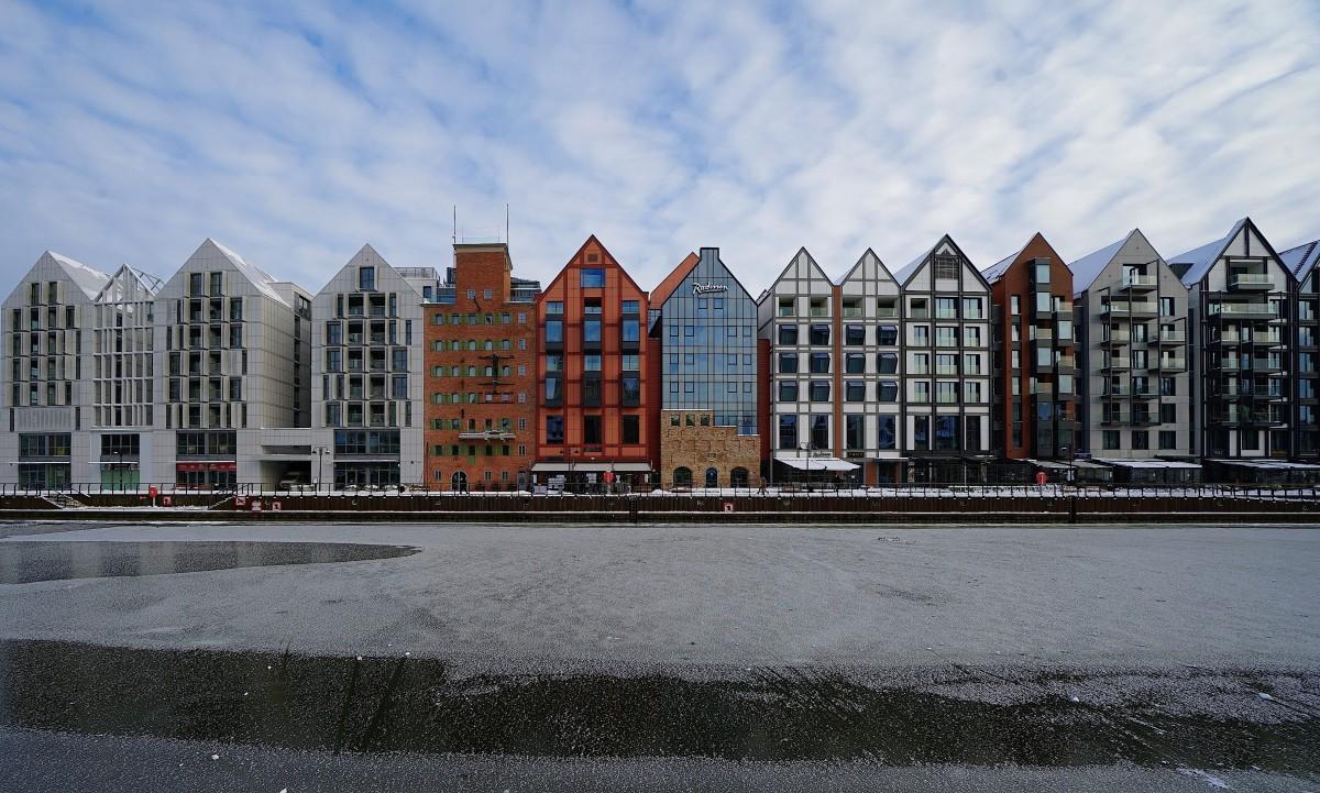 Zdjęcia: Gdańsk, Pomorze, Nowe kamieniczki nad Motławą, POLSKA