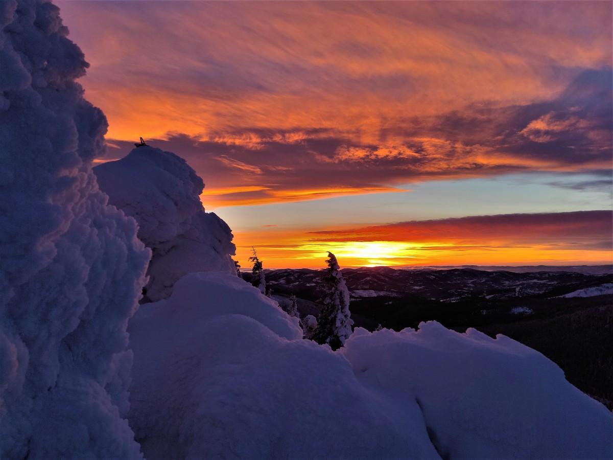 Zdjęcia: Beskidy, Pilsko, Magiczny zachód słońca, POLSKA