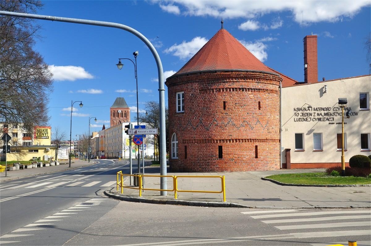 Zdjęcia: Choszczno, zachodniopomorskie, Barbakan Bramy Kamiennej z XIV wieku w Choszcznie, POLSKA