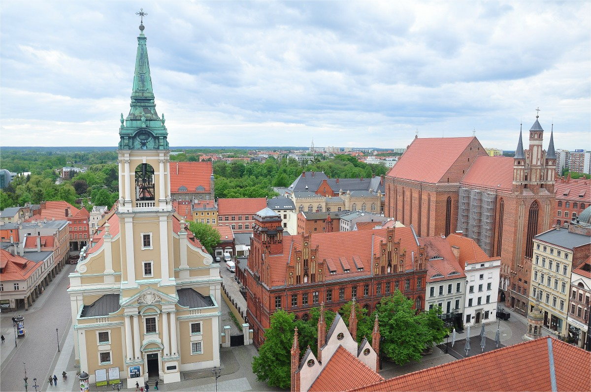 Zdjęcia: Toruń, kujawsko-pomorskie, Widok z wieży Ratusza, POLSKA