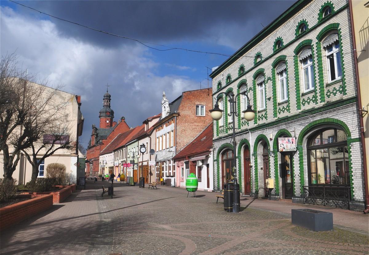 Zdjęcia: Drezdenko, lubuskie, Kamienice przy deptaku w Drezdenku, POLSKA