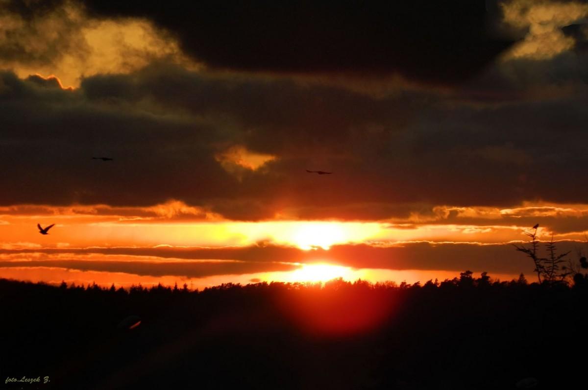 Zdjęcia: Iława., warmińsko-mazurskie, Zachód słońca z balkonu., POLSKA