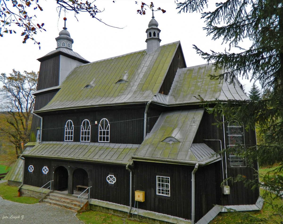 Zdjęcia: gmina Grybów., pow. nowosądecki., Kąclawa - kościół pomocniczy św. Wojciecha., POLSKA